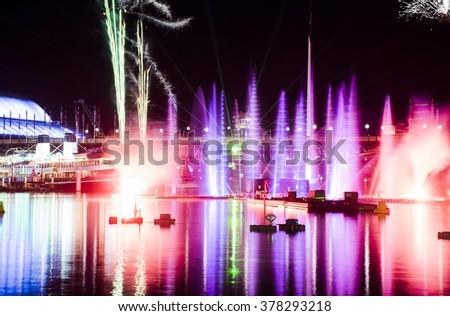 Vivid Sydney - Darling Harbor - stock photo