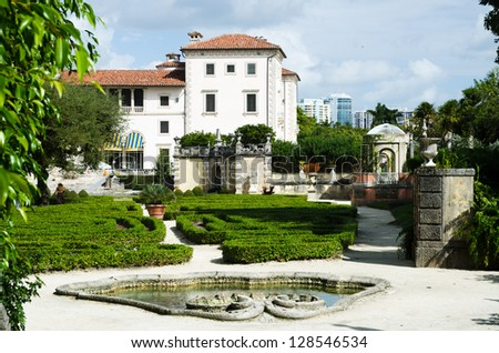 Vizcaya Museum in Miami. - stock photo
