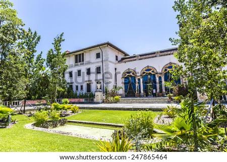 Vizcaya Museum in Miami under blue sky - stock photo