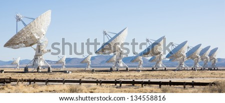 VLA (Very Large Array) - a group of radio telescopes in New Mexico (USA)