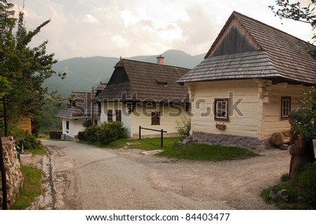 Vlkoinec - historic village listed as a UNESCO World Heritage site since 1993. This status was granted because the village is an untouched and complex example of folk countryside architecture.