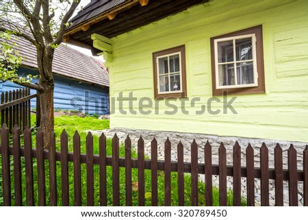 Vlkolinec - traditional rustic village near small town Ruzomberok, Slovakia, Eastern Europe