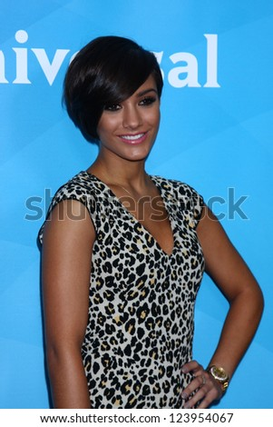 vLOS ANGELES - JAN 7:  Frankie Sandford of 'The Saturdays' attends the NBCUniversal 2013 TCA Winter Press Tour at Langham Huntington Hotel on January 7, 2013 in Pasadena, CA
