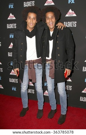 vLOS ANGELES - JAN 14:  Gary Clemmons, Jason Clemmons at the Baskets Red Carpet Event at the Pacific Design Center on January 14, 2016 in West Hollywood, CA - stock photo