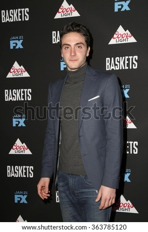vLOS ANGELES - JAN 14:  Noah Silver at the Baskets Red Carpet Event at the Pacific Design Center on January 14, 2016 in West Hollywood, CA - stock photo