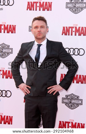 """vLOS ANGELES - JUN 29:  Chris Hardwick at the """"Ant-Man"""" Los Angeles Premiere at the Dolby Theater on June 29, 2015 in Los Angeles, CA - stock photo"""