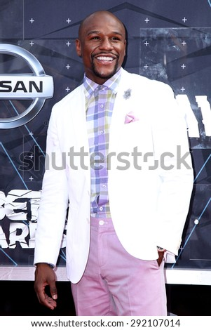 vLOS ANGELES - JUN 28:  Floyd Mayweather Jr at the 2015 BET Awards - Arrivals at the Microsoft Theater on June 28, 2015 in Los Angeles, CA - stock photo