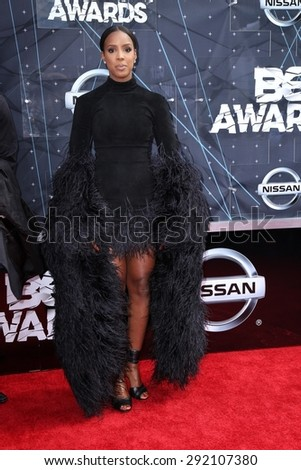 vLOS ANGELES - JUN 28:  Kelly Rowland at the 2015 BET Awards - Arrivals at the Microsoft Theater on June 28, 2015 in Los Angeles, CA - stock photo