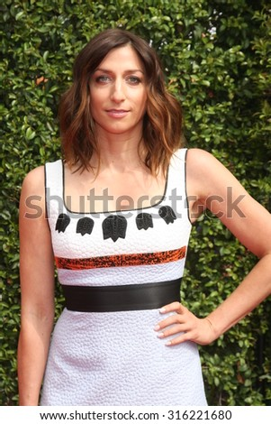 vLOS ANGELES - SEP 12:  Chelsea Peretti at the Primetime Creative Emmy Awards Arrivals at the Microsoft Theater on September 12, 2015 in Los Angeles, CA - stock photo