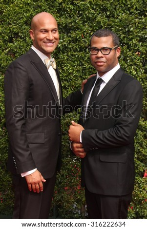 vLOS ANGELES - SEP 12:  Keegan-Michael Key, Jordan Peele at the Primetime Creative Emmy Awards Arrivals at the Microsoft Theater on September 12, 2015 in Los Angeles, CA