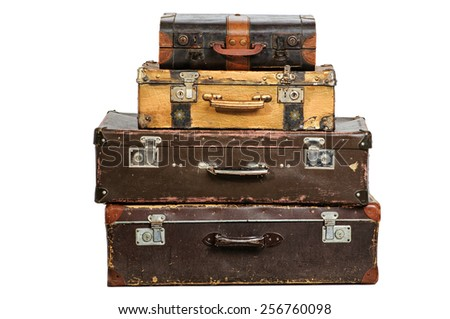Vntage suitcases - stock photo