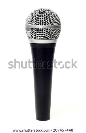 Vocal microphone isolated on white background