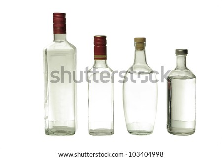 Vodka and gin. Strong drinks - stock photo