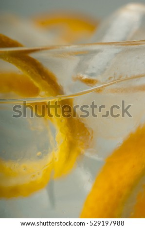 Vodka orange cocktail in a glass with ice
