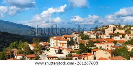 Vofou village panorama. Cyprus, Limassol District. - stock photo
