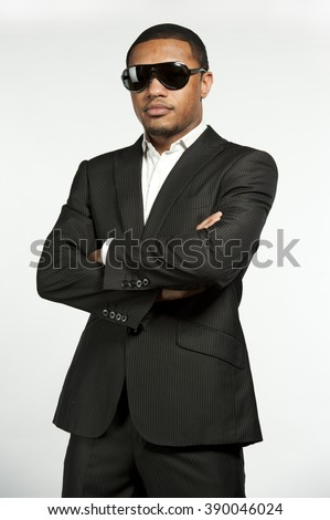 Vogue Style Formal Black Male - stock photo