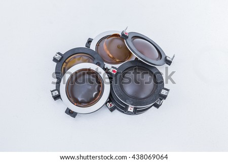 Voice coil speakers - stock photo