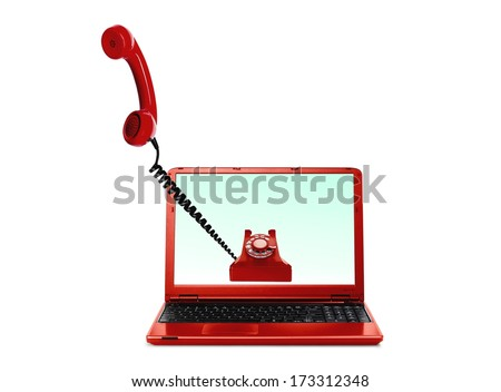Voice over Internet VoIP - stock photo