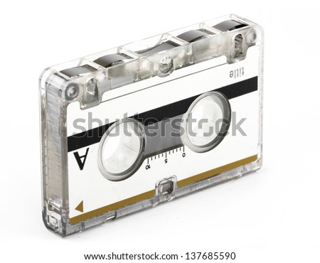 Voice Recorder Cassette - stock photo