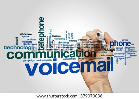 Voicemail word cloud - stock photo