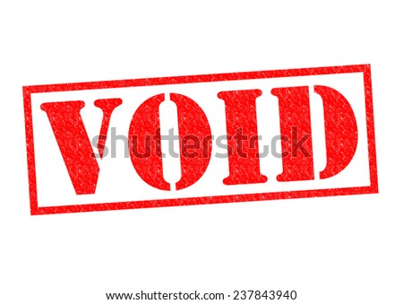 VOID red Rubber Stamp over a white background. - stock photo