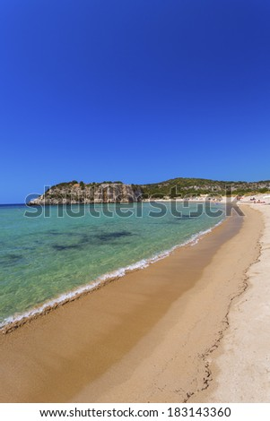Voidokilia Beach , a popular beach in Messinia ,Greece