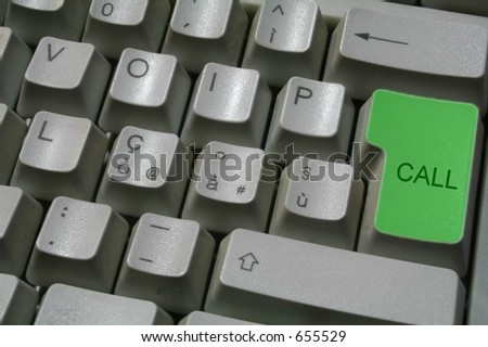 voip keyboard 2 - stock photo