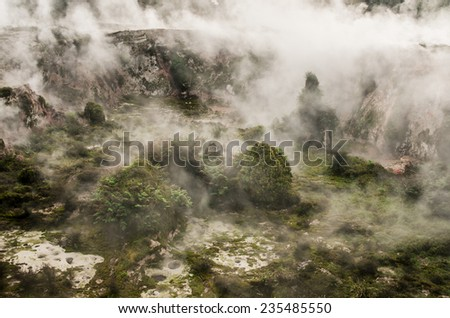 Volcanic area near Rotorua New Zealand - stock photo