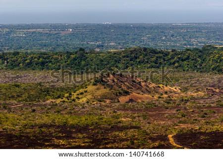 Volcanic area of Nicaragua - stock photo
