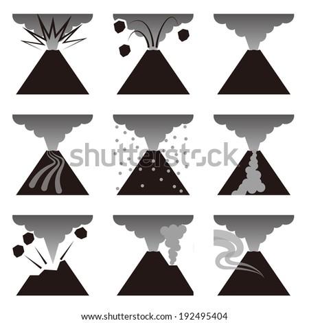 Volcanic explosion  - stock photo