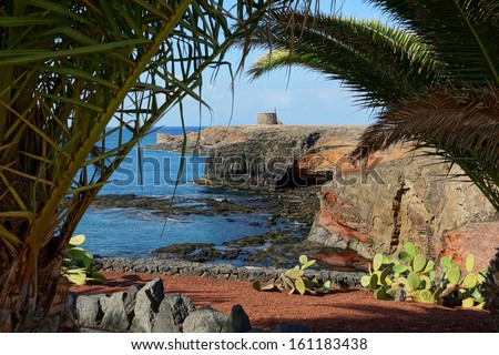 Volcanic island                                - stock photo