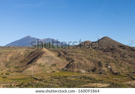 Volcanic landscape in the Teide National Park, Tenerife, Canary Islands, Spain