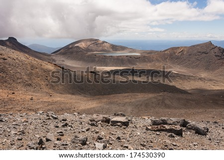 volcanic landscape in Tongariro National Park