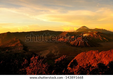 Volcanic Mountain at Sunrise