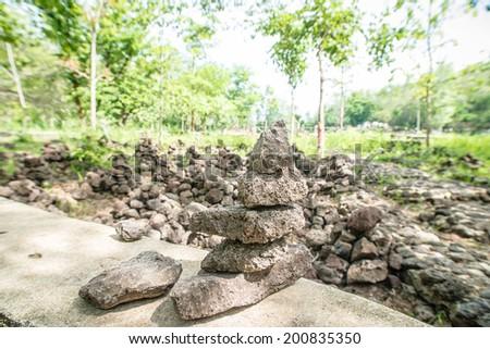 Volcanic Pumice ,burirum,thailand - stock photo
