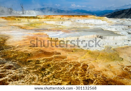 Volcanic Yellowstone National Park - stock photo