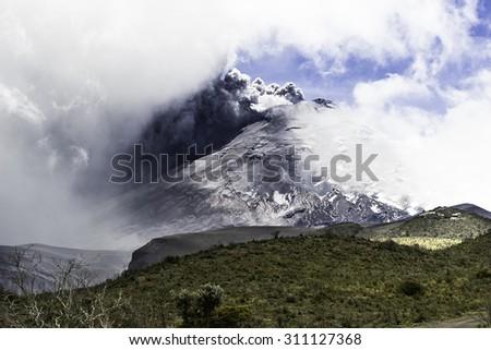 volcano - stock photo