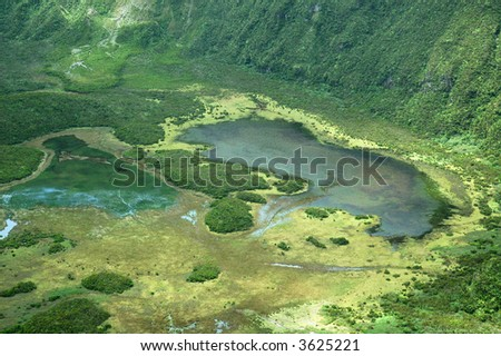 Volcano in Faial island, Azores - stock photo