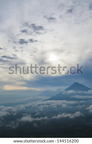 Volcano in Guatemala, central america - stock photo