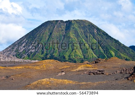 Volcano, Indonesia - stock photo