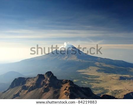 Volcano Popocatepetl, Mexico. - stock photo