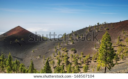 Volcanoes route in La Palma island, Spain - stock photo