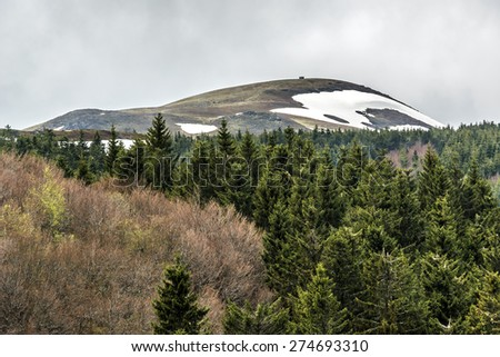Volcans d'Auvergne regional natural park, Monts Dore Mountains, Auvergne, France - stock photo