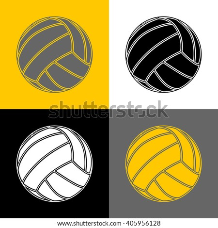 Volleyball-background-sport - stock photo