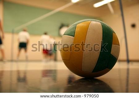 volleyball 002 ball. - stock photo