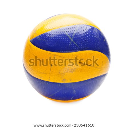 volleyball ball isolated on a white background closeup