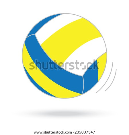 volleyball ball isolated white background