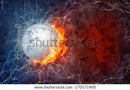 Volleyball on Fire Wallpaper Volleyball Ball on Fire And