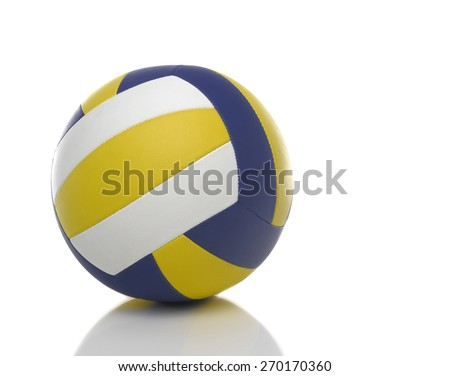 Volleyball ball on white