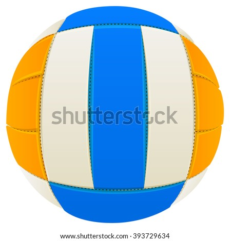 Volleyball. Isolated on white illustration